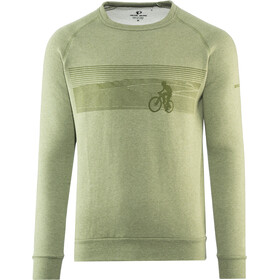 PEARL iZUMi Sweat-shirt manches longues à col ras-du-cou Homme, landscape bike army green